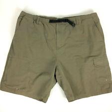 REI Elastic Waist Shorts Mens 2XL Green Cargo Hiking Camping Outdoor