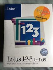 Vintage Lotus 123 v 2.4 DOS retail sealed