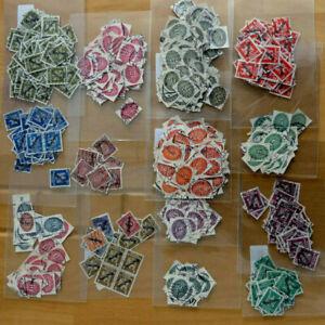 Deutsches Reich Weimarer Republik Kiloware Dienstmarken gestempelt