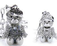 Teddy Anhänger+Halskette mit Swarovski Kristall Statement Collier Ketten Modisch