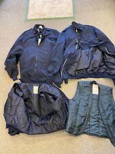 Job lot 10 British Royal Air Force RAF blue general purpose jackets PLUS liners