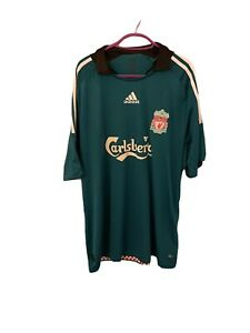 LIVERPOOL FC Adidas Third Green Shirt 2008/09 (XL)