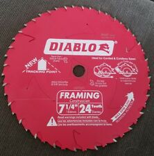"Freud Diablo D0724DA Demo Demon 7-1/4"" 24T Carbide Circular Saw Framing Blade"