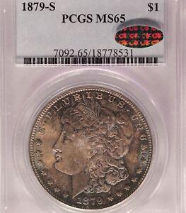 1879-S $1 PCGS MS 65 CAC BEAUTIFULLY TONED Morgan Silver Dollar