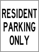 Resident Parking Only Sign Metal Traffic Control Lot or Driveway Sign 9x12inch