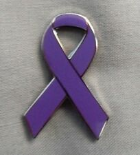 ***NEW*** Alzheimer's Awareness ribbon enamel badge. Dementia, Charity.