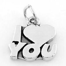 925 STERLING SILVER I LOVE YOU CHARM/PENDANT