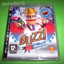 BUZZ EL MULTICONCURSO NUEVO PRECINTADO PAL ESPAÑA PS3 PLAYSTATION 3