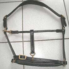 Soft-Lederhalfter,schwarzes Leder,Cama Design, Gr. Vollblut