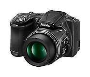 Boxed & Mint Nikon COOLPIX L830 16MP 34x Zoom Digital Camera - Black +warranty