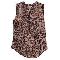 Cabi M Sleeveless Blouse Medium Zebra Print Pink