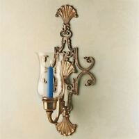 Shell Wall Sconce Antique Brass