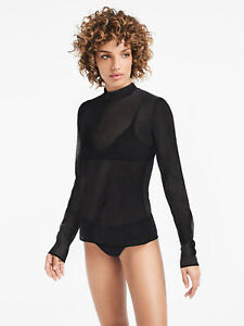 RRP €195 WOLFORD Tulle Pullover Top Size L Lightweight Matte Look Comfort Fit