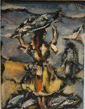 Eduardo Pisano (1912-1989) . Huile sur panneau. v1492