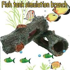 Aquarium Hide Fish Cave Ornament Hide Hollow Tree Hiding Decoration Tank D7N6