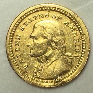 $1 1903 Jefferson - Louisiana Purchase Commemorative Gold