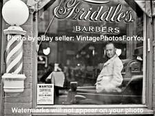 Old/Antique '41 Virginia Barber Pole Shop Hair Cut Hot Razor Shave Photo/Picture