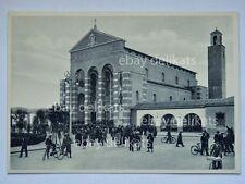 LITTORIA LATINA vecchia cartolina ANIMATISSIMA chiesa San Marco piazza