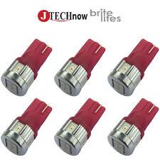 6 x T10 Red 6 SMD5630 3W Super Bright 194 168 2825 W5W LED Car Lights Bulb