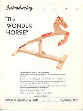 Wonder Horse ad broadside children's playground equipment for home 1920s??