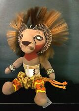 Disney SIMBA LION KING Broadway Musical Plush Toy African Tribal Attire