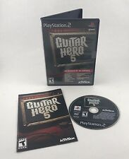 COMPLETE Guitar Hero 5 Sony PlayStation 2 PS2 CIB Tested & Works Great!