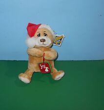 "8"" Christmas Santa Teddy Bear Stitch Nose Stuffed Plush Animal by Petting Zoo"