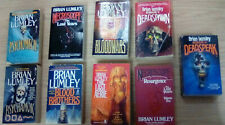 Set, Lot, Collection of Brian Lumley books (Psychomech, Necroscope series)