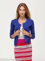 Roxy Women Blue/Yellow Knit Cotton Cardigan Size XS/S/M/L
