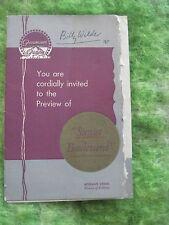 ORIGINAL ADVANCE SCREENING INVITATION - SUNSET BOULEVARD SIGNED BY BILLY WILDER