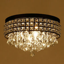 4-Lights Metal Crystal Ceiling Light Living Room Lighting Ceiling Lamp Fixtures