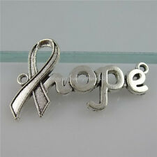 11950 15PCS Antique Style Vintage Silver Alloy Charity Health Hope Connector