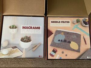 Kiwi Co - Set of 2 Monthly Craft Boxes - Macrame Planter & Felted Case - NEW!