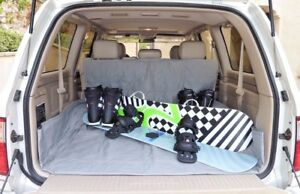"""Cargo Liner for Dog Pet Quilted Padded Fit SUV Truck Mini Van 52""""W x 93""""L, Grey"""