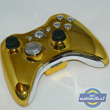 Xbox 360 Wireless Controller Official Custom Chrome Gold & Silver Fast Dispatch