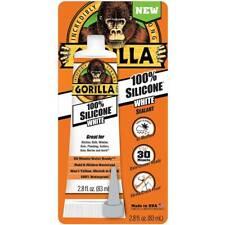 Gorilla 100 Percent Silicone Sealant 8060810 Waterproof  Flex 2.8 oz Tube, White