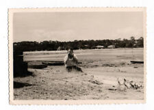 PHOTO Caméra Appareil Photographe Photographié Plage Autoportrait Vers 1950