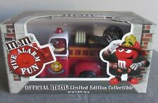 NIB M&M CANDY DISPENSER FIRE TRUCK RED FORD CHEVY VINTAGE RARE HTF