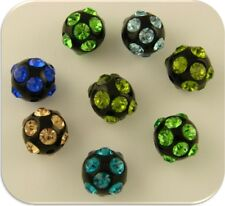 Beads 12mm Crystal Balls Sapphire Aqua Peridot Olivine Swarovski Elements QTY 8