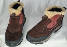 Merrell Sleet 6 Womens Sz 9 Waterproof Ortholite Qform Black Fur Winter Boots