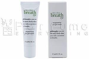 PHILOSOPHY Take a Deep Breath Oxygenating Eye Gel Cream 15ml / 0.5 .oz NIB