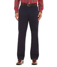 Cremieux Mens New Flat Front Twill Chino Pants 36 36w 36x30 L Large Navy Blue