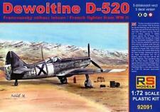 DEWOITINE D-520 C1 (REGIA AERONAUTICA/ITALIAN & BULGARIAN AF MKGS)1/72 RS MODELS