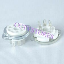 12pc Ceramic Tube Socket K8A Chassis 8Pin For EL34 6CA7 6550 KT88 6SN7 6L6 6CK5