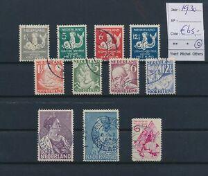 LN18314 Netherlands 1930 child welfare fine lot used cv 65 EUR