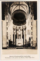 Interior Crossing Choir Looking East Cathedral St. John The Divine New York RPPC