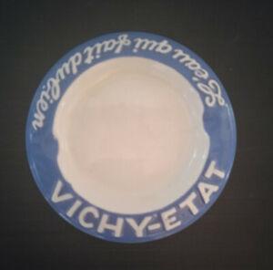 Cendrier publicitaire céramique VICHY Vintage Adverting ceramic Ashtray 1950s