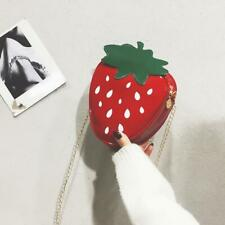 Girls Cute Strawberry Chain Shoulder Bags Women Patent Leather Crossbody Bag