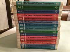 THE YOUNG CHILDREN'S ENCYCLOPEDIA Vintage Complete Set of 15 Volumes Britanica