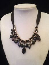 next black and silver ribbon necklace
